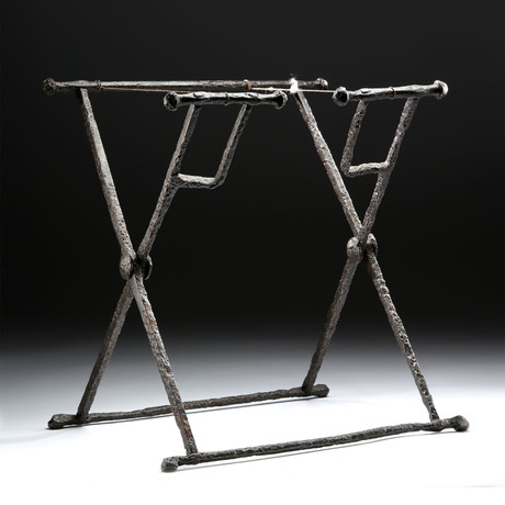 Exhibited Roman Iron Military Officer Folding Chair