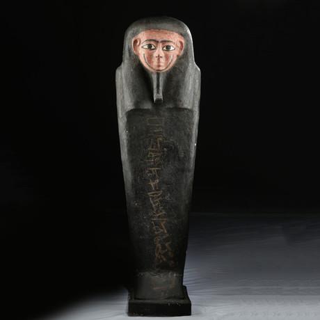 Egyptian Cedar / Painted Gesso Coffin for Iret Horru