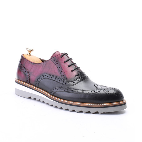 Wynter Dress Shoe // Bordeaux + Black (Euro: 39)