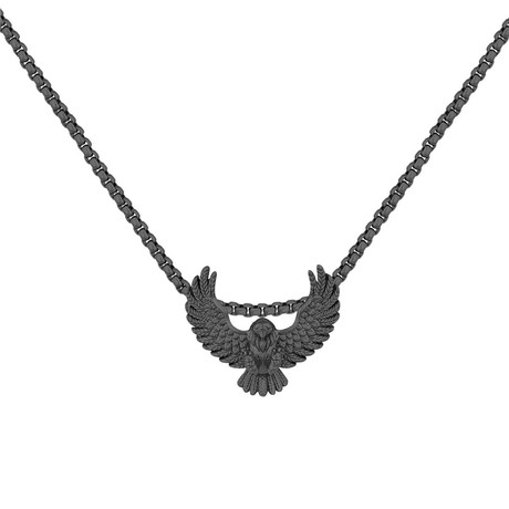 Dark Falcon Necklace // Black