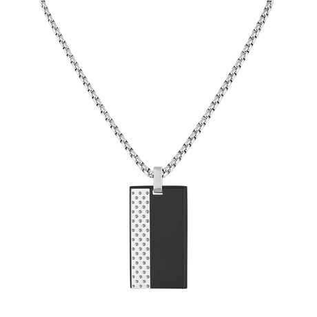 Tag Necklace // White + Black