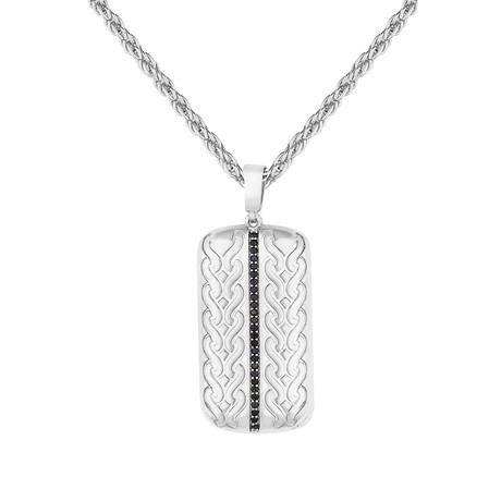 Tag Necklace // Silver