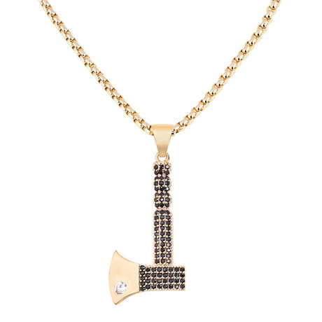Axe Necklace // Gold