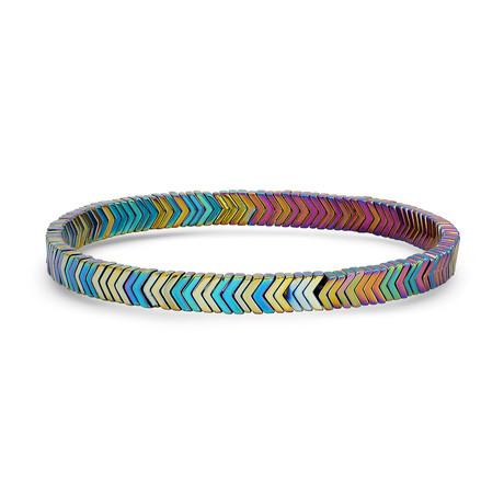 Arrow Hematite Beaded Bracelet // Multicolor