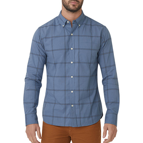 Blue Jasper Plaid Button Down Shirt // Blue (S)