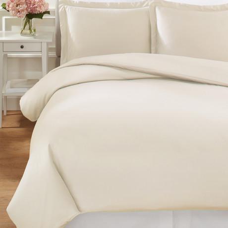 T400 Supima Cotton Duvet Set // Ivory (Full/Queen)