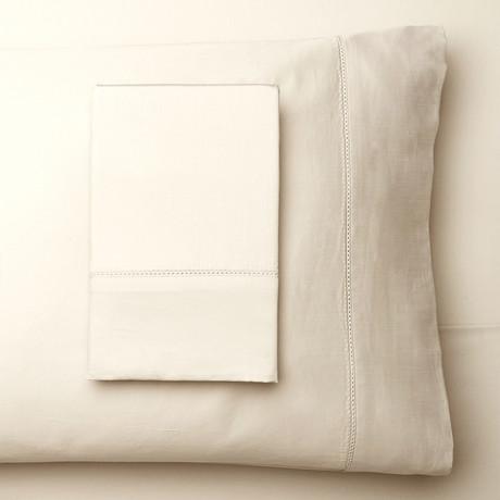 T400 Hems Supima Cotton Sheet Set // Ivory (Full)