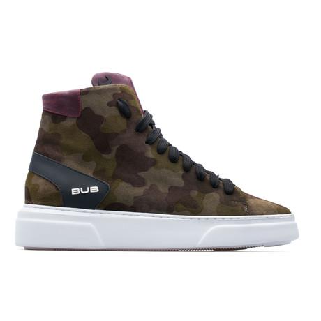 High Top Sneaker // Green Camo (Euro: 39)
