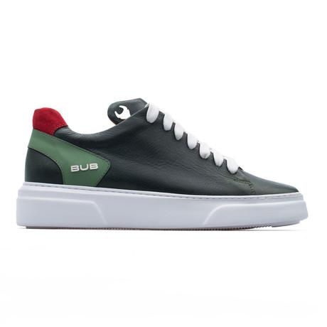 Low Top Sneaker // Duck Green + Red (Euro: 39)