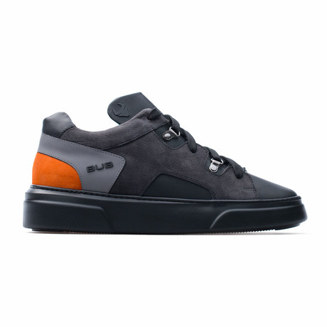Low Top Sneaker // Black + Orange (Euro: 39)