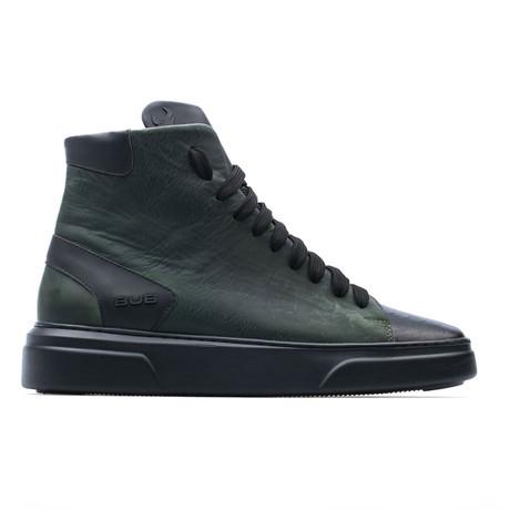 High Top Sneaker // Dark Green + Black (Euro: 39)
