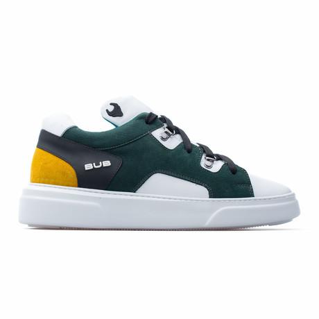 Low Top Sneaker // White + Green + Yellow (Euro: 39)