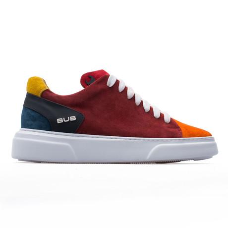 Low Top Sneaker // Red + Orange + Yellow + Blue (Euro: 39)