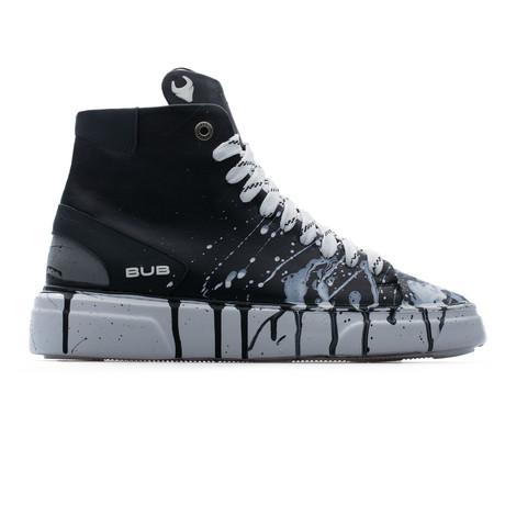 High Top Sneaker // Black + White (Euro: 39)