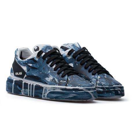 Low Top Sneaker // Dark Blue + White (Euro: 39)