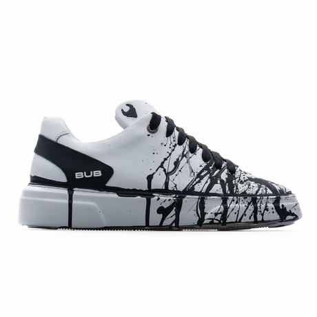 Low Top Sneaker // White + Black (Euro: 39)