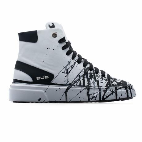 High Top Sneaker // White + Black (Euro: 39)