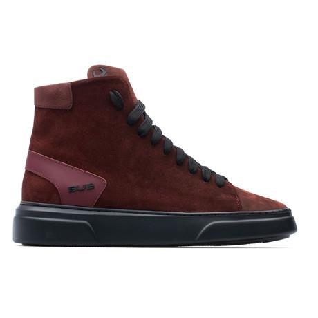 High Top Sneaker // Burgundy (Euro: 39)