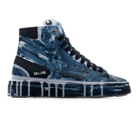 High Top Sneaker // Dark Blue + White (Euro: 39)