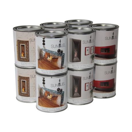 SunJel Gel Fuel Cans // 12-pack