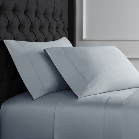 Hemstitch Sheet Set // 600TC // Blue (Full)