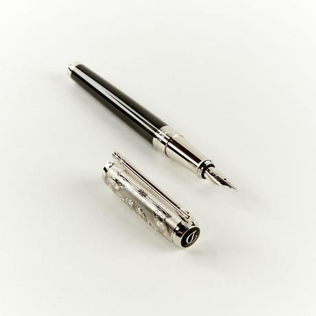 ST Dupont Wild West Lacquer + Palladium Fountain Pen // 410065