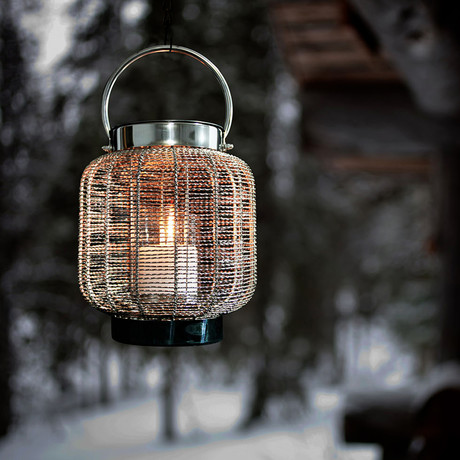 Anywhere Fireplace Neptune // 2-in-1 Fireplace/Lantern + 12-Pack SunJel Fuel