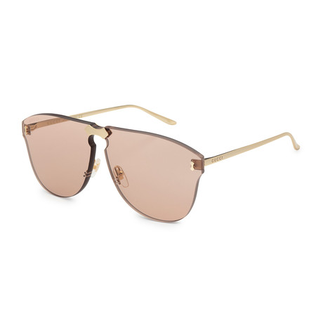 Unisex GG0354S-002 Sunglasses // Gold + Brown