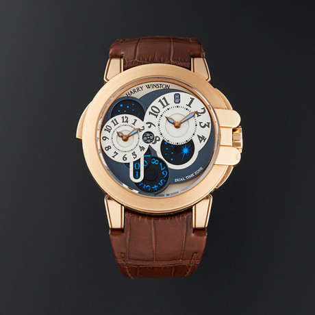 Harry Winston Ocean Dual Time Automatic // OCEATZ44RR001 // Pre-Owned