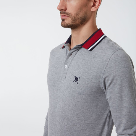 Tommy Long Sleeve Polo // Gray (S)