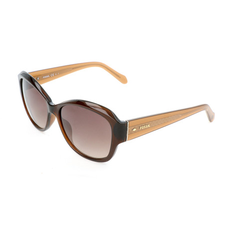 Men's Flannery Sunglasses // Transparent Brown + Champagne