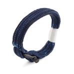 """Oceans Shackle Bracelet // Black + Blue (7.1"""")"""