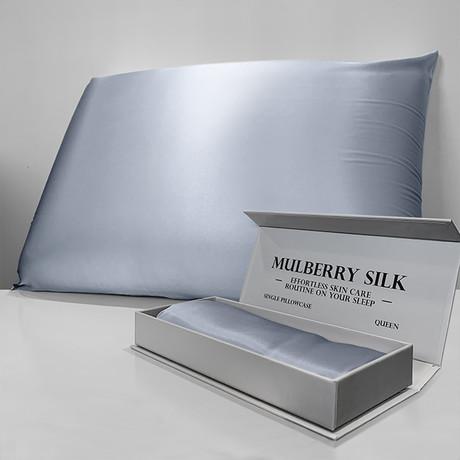 Mulberry Silk Pillowcase // Blue (Queen)