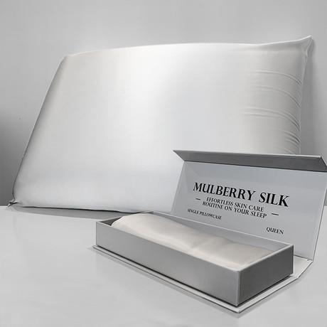 Mulberry Silk Pillowcase // White (Queen)