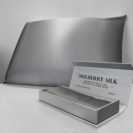 Mulberry Silk Pillowcase // Gray (Queen)