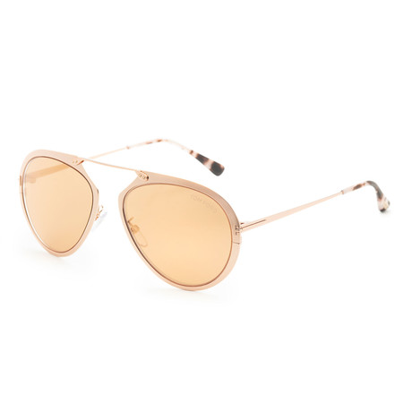 Unisex Dashel Sunglasses // Rose Gold + Smoke Mirror