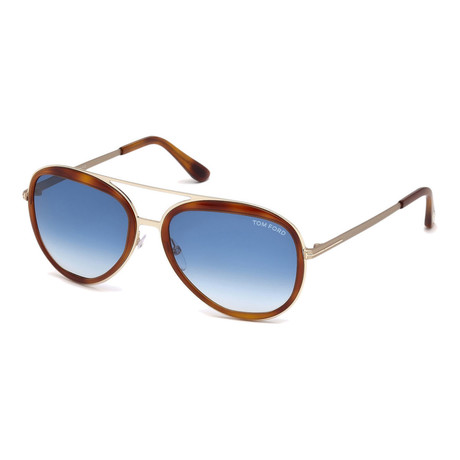 Men's Andy Sunglasses // Orange + Blue Gradient