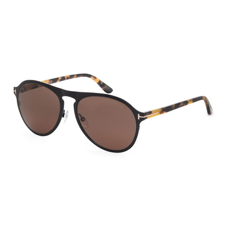 Men's FT0525-01E Sunglasses // Shiny Black + Brown