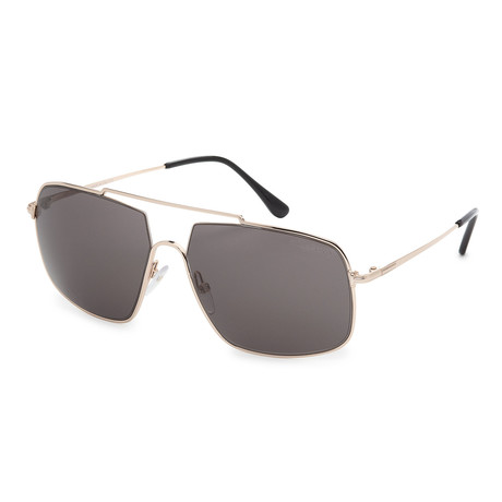 Men's FT0585-28A Sunglasses // Shiny Rose Gold + Smoke