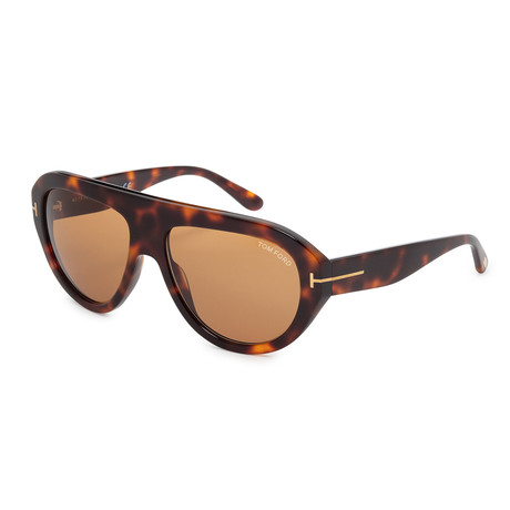 Men's Felix FT0589-56E Sunglasses // Havana + Brown