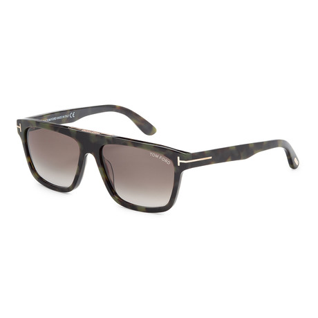 Men's Cecilio Sunglasses // Colored Havana + Smoke Gradient