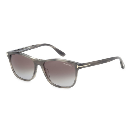 Men's FT0629-56B Sunglasses // Havana + Smoke Gradient