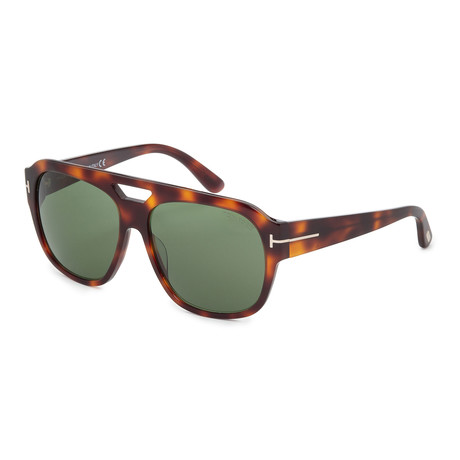 Unisex Bachardy Sunglasses // Dark Havana + Green