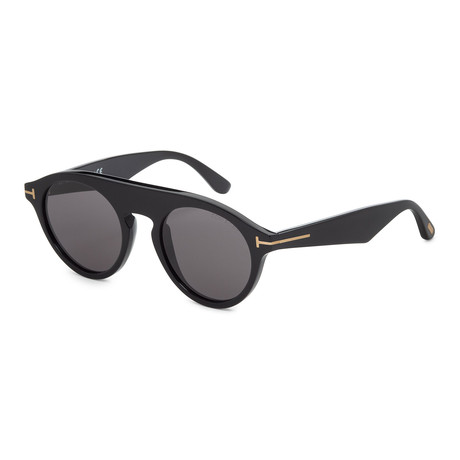 Unisex FT0633-01A Sunglasses // Shiny Black + Smoke