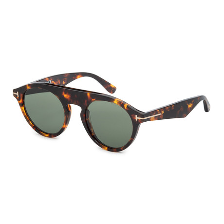Unisex FT0633-52A Sunglasses // Dark Havana + Smoke