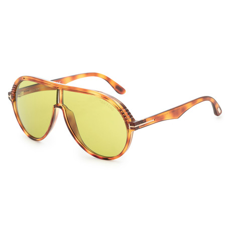 Men's Montgomery Sunglasses // Blonde Havana + Green