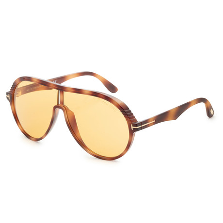 Men's Montgomery Sunglasses // Light Havana + Brown