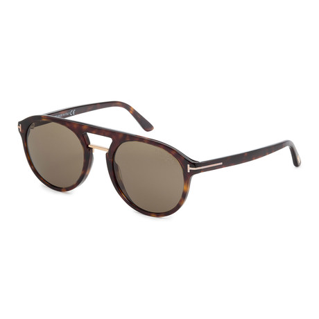Men's FT0675-52H Polarized Sunglasses // Dark Havana + Brown