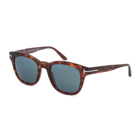 Men's FT0676-54N Sunglasses // Red Havana + Blue