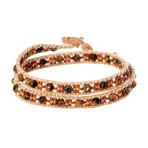 Jean Claude Jewelry // Double Wrap Tiger Eye + Tila Bead Bracelet // Multicolor